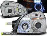 Přední světla Hyundai Tucson 07/04-10 Angel Eyes chrome