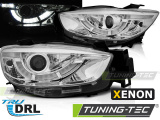 Přední světla Mazda CX5 11-15 chrom pravý DRL xenon