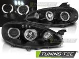 Přední světla Mazda MX5 01-05 Angel Eyes černá