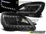 Přední světla Mercedes W204 07-10 černá