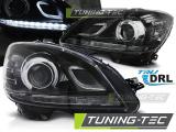 Přední světla Mercedes W204 07-10 DRL černá