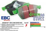 Přední brzdové destičky EBC Greenstuff na Alfa Romeo 145 1.75 TS (97-01) EBC Brakes