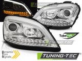 Přední světla Mercedes W164 ML/M 05-07 chrom SEQ
