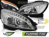 Přední světla Mercedes W204 07-10 chrom SEQ
