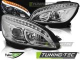 Přední světla Mercedes W204 07-10 chrom