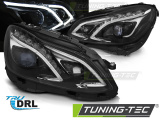 Přední světla Mercedes W212 13-16 TRUE DRL černá