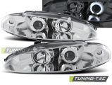 Přední světla Mitsubishi  Eclipse 06/95-96 Angel Eyes chrom