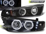 Přední světla Mitsubishi Galant 8 (EA0) 96-06 Angel Eyes černá CCFL