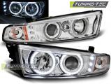 Přední světla Mitsubishi Galant 8 (EA0) 96-06 Angel Eyes chromeCCFL