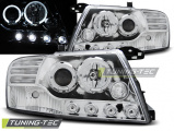 Přední světla Mitsubishi Pajero V60 00-06 Angel Eyes chrom