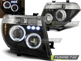 Přední světla Nissan Navara D40/Pathfinder 05-10 Angel Eyes černá