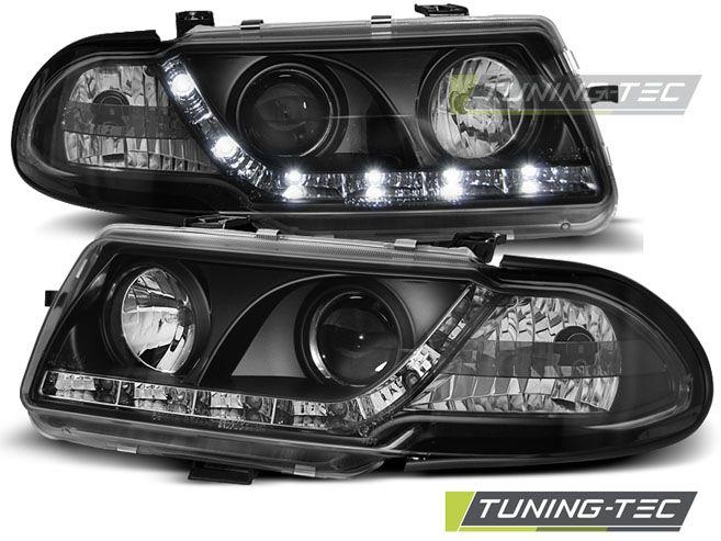 Přední světla Opel Astra F 09/91-08/94 černá TUNINGTEC
