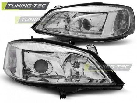Přední světla Opel Astra G 09/97-02/04 chrom H7 TUNINGTEC