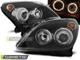 Přední světla Opel Astra H 03/04-09 Angel Eyes černá