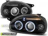 Přední světla Opel Corsa B 02/93-10/00 Angel Eyes černá