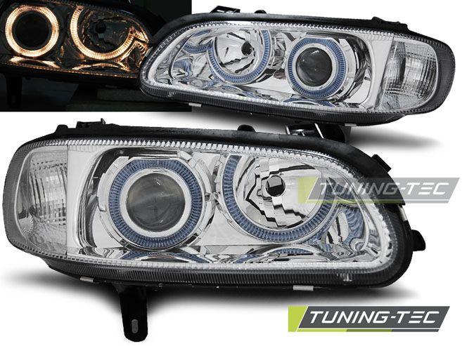 Přední světla Opel Omega B 04/94-08/99 Angel Eyes chrom TUNINGTEC