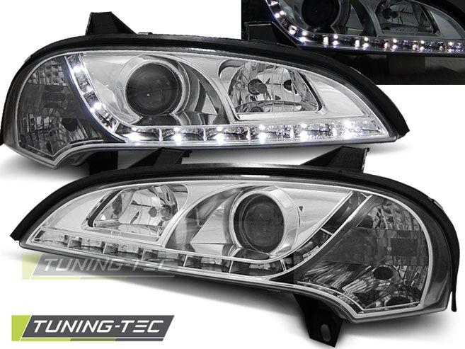 Přední světla Opel Tigra 09/94-12/00 chrom TUNINGTEC