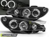 Přední světla Peugeot 206 02- Angel Eyes černá