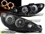 Přední světla Peugeot 206 02-Angel Eyes černá