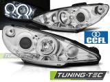 Přední světla Peugeot 206 02- Angel Eyes chrom CCFL
