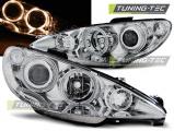 Přední světla Peugeot 206 02-Angel Eyes chrom