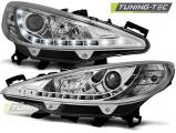 Přední světla Peugeot 207 05/06-06/12 chrom W/MOTOR