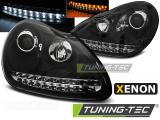 Přední světla Porsche Cayenne 02-06 černá xenon