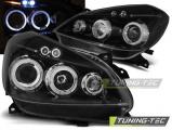 Přední světla Renault Clio 3 05-09 černá Angel Eyes