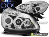Přední světla Renault Clio 3 05-09 chrom Angel Eyes