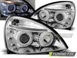 Přední světla Renault Clio II 06/01-09/05 Angel Eyes chrom