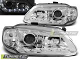 Přední světla Renault Megane/Scenic 96-99 Angel Eyes chrom
