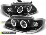 Přední světla Renault Megane/Scenic 96-99 Angel Eyes černá