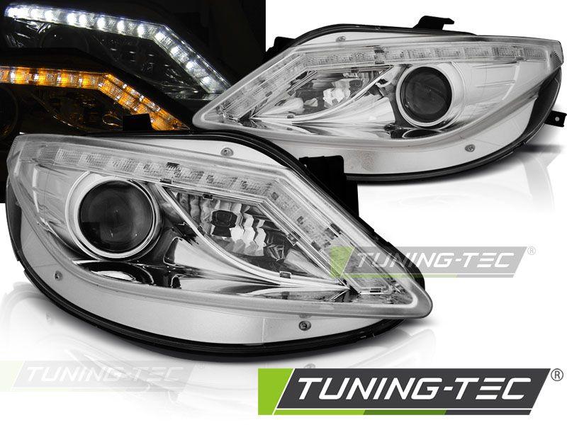 Přední světla Seat Ibiza 6J 06/08-12 chrom led TUNINGTEC