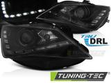 Přední světla Seat Ibiza 6J 12-15 TRUE DRL černá