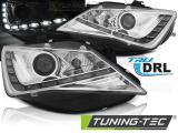 Přední světla Seat Ibiza 6J 12-15 TRUE DRL chrom