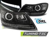 Přední světla Skoda Octavia 09-12 TRUE DRL černá