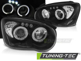 Přední světla Subaru Impreza II GD 03-05 Angel Eyes černá