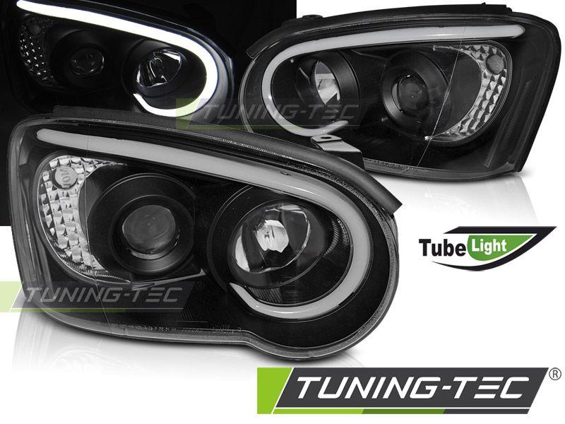 Přední světla Subaru Impreza II GD 03-05 černá TUNINGTEC