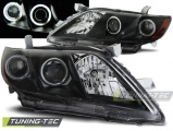 Přední světla Toyota Camry 6 XV40 06-09 Angel Eyes černá