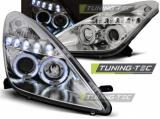Přední světla Toyota Celica T230 99-05 Angel Eyes chrom