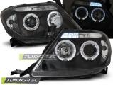 Přední světla Toyota Hilux 05-11 Angel Eyes černá