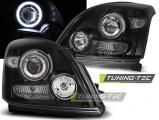 Přední světla Toyota Land Cruiser 120 03-09 Angel Eyes černá CCFL