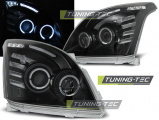 Přední světla Toyota Land Cruiser 120 03-09 Angel Eyes černá