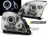Přední světla Toyota Land Cruiser 120 03-09 Angel Eyes chrom CCFL