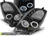 Přední světla Toyota Yaris 06-09 Angel Eyes černá