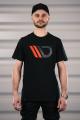 Černé tričko s červeným logem Maxton Design