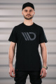 Černé tričko s logem Maxton Design