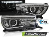 Přední světla Toyota Hilux 16- led  TRUE DRL černá