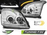 Přední světla Toyota Land Cruiser 120 03-09 SEQ led chrom