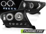 Přední světla Toyota Land Cruiser FJ200 07-12 Angel Eyes černá